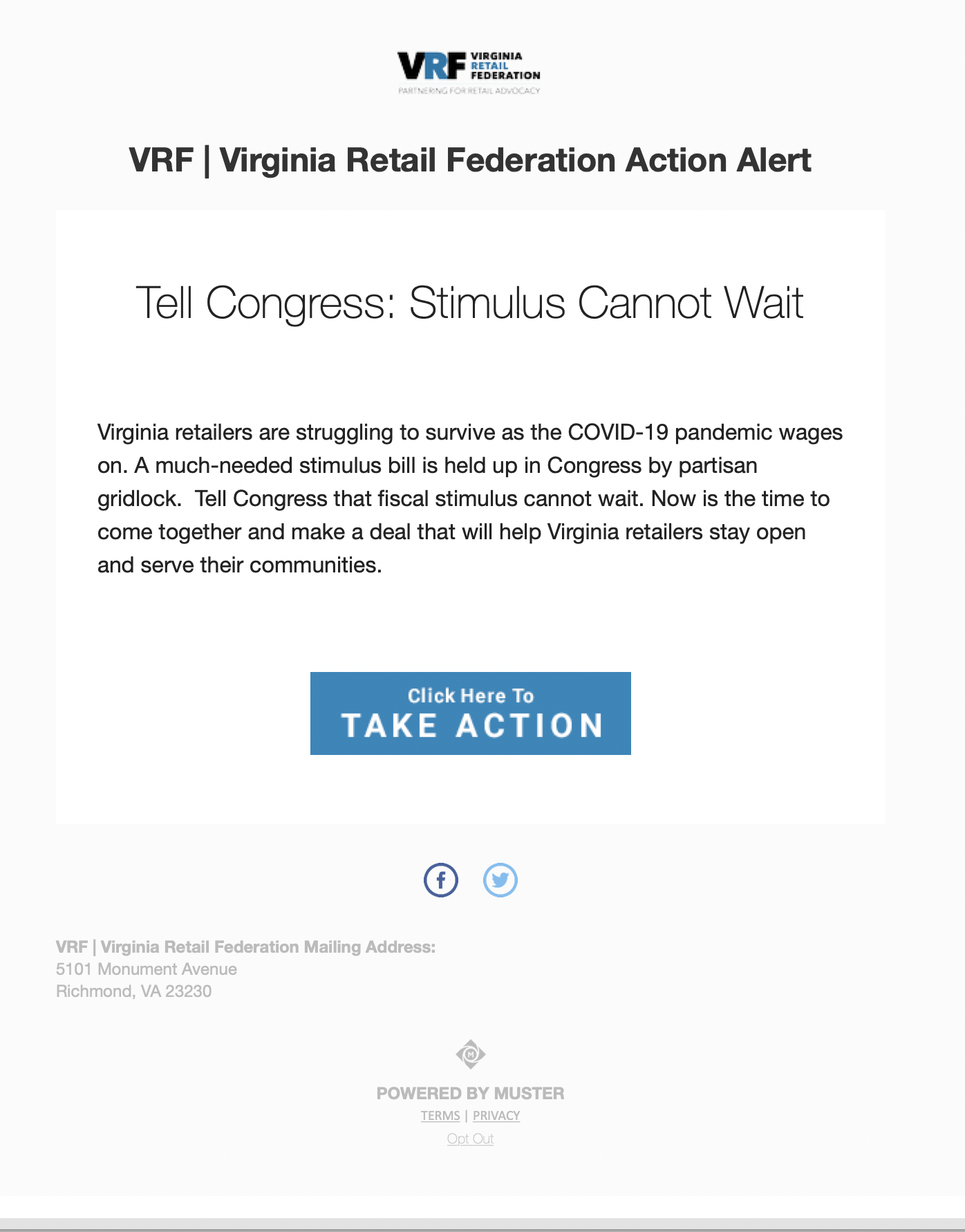 Step 1: Action Alert Email